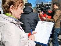 002 Probleem Pärnu turuga tõi piketeerijad välja. Foto: Urmas Saard
