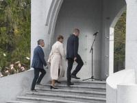 017 President Kersti Kaljulaid Iseseisvuse väljakul. Foto: Urmas Saard / Külauudised