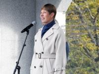 022 President Kersti Kaljulaid Iseseisvuse väljakul. Foto: Urmas Saard / Külauudised