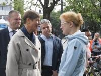 028 President Kersti Kaljulaid Iseseisvuse väljakul. Foto: Urmas Saard / Külauudised
