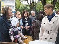 031 President Kersti Kaljulaid Iseseisvuse väljakul. Foto: Urmas Saard / Külauudised