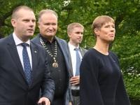006 President Kersti Kaljulaid Pärnu Rannapargis. Foto: Urmas Saard / Külauudised