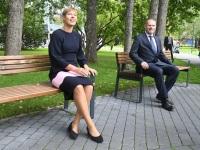 007 President Kersti Kaljulaid Pärnu Rannapargis. Foto: Urmas Saard / Külauudised