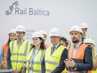 Rail Balticu raudteejaama ja sellega seotud infrastruktuuri ehitusprotsesside alguse avamistseremoonia Riias. Foto: RB Rail AS