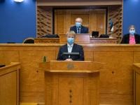 002 Rain Epler, uus keskkonnaminister, Riigikogus. Foto: Erik Peinar / Riigikogu kantselei