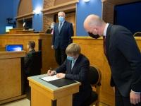 004 Rain Epler, uus keskkonnaminister, Riigikogus. Foto: Erik Peinar / Riigikogu kantselei
