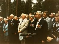 Tallinna Metsakalmistul Soomepoiste kalmistu avamine. Foto Eesti Sõjahaudade Hoolde Liidu arhiivist