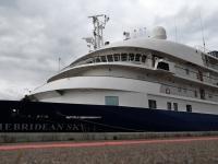 001 Ristluslaev Hebridean Sky Pärnu kesklinna kai ääres. Foto Urmas Saard