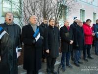 001 Sada aastat Eesti riigilipu heiskamisest Pika Hermanni torni. Foto: Peeter Hütt