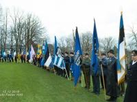 003 Sada aastat Eesti riigilipu heiskamisest Pika Hermanni torni. Foto: Peeter Hütt