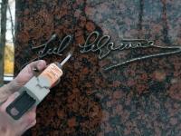 011 Seljamaa allkiri graniidil. Foto: Urmas Saard