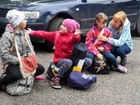 017 Sindi gümnaasiumi lapsed teel laulupeole. Foto: Urmas Saard
