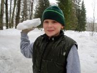 009 Sindi gümnaasiumi lumelinna päev 2011. a 3. veebruaril.  Foto: Urmas Saard