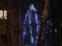 003 Sindi jõulupuu korrusmajade vahel. Foto: Urmas Saard