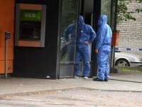 010 Sindi Konsum pärast öist plahvatust SEB pangaautomaadi juures. Foto: Urmas Saard / Külauudised