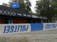 018 Sindi Konsum pärast öist plahvatust SEB pangaautomaadi juures. Foto: Urmas Saard / Külauudised