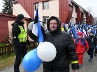 018 Sindi lasteaed tähistab koduriigi 102. sünnipäeva. Foto: Urmas Saard