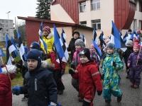 020 Sindi lasteaed tähistab koduriigi 102. sünnipäeva. Foto: Urmas Saard