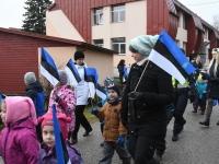 021 Sindi lasteaed tähistab koduriigi 102. sünnipäeva. Foto: Urmas Saard