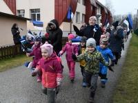 022 Sindi lasteaed tähistab koduriigi 102. sünnipäeva. Foto: Urmas Saard