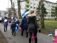 033 Sindi lasteaed tähistab koduriigi 102. sünnipäeva. Foto: Urmas Saard