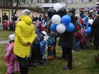 044 Sindi lasteaed tähistab koduriigi 102. sünnipäeva. Foto: Urmas Saard