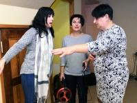 001 Sindi naisliidu pidu sotsiaaltöökeskuses. Foto: Urmas Saard