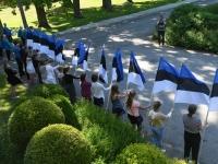 032 Sinimustvalge lipu 135. aastapäev. Foto: Urmas Saard