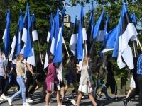 045 Sinimustvalge lipu 135. aastapäev. Foto: Urmas Saard