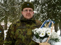 Urmas Piigert, Tartu rahu 101. aastapäeva mälestushetk Türi kesklinna kalmistul. Foto: Urmas Saard / Külauudised