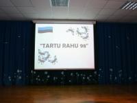 002 Tartu rahu 98. aastapäevale pühendatud konverents Sindi gümnaasiumis. Foto: Urmas Saard
