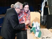 006 Tartu rahuläbirääkimistele pühendatud konverents rahvusraamatukogus. Foto: Urmas Saard