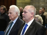 014 Arnold Rüütel ja Henn Põlluaas. Tartu rahuläbirääkimistele pühendatud konverents rahvusraamatukogus. Foto: Urmas Saard