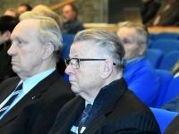 017 Jaan Roosnurm ja Ando Leps. Tartu rahuläbirääkimistele pühendatud konverents rahvusraamatukogus. Foto: Urmas Saard