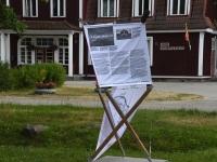 Üks üheksast Sindi infopunktist Raudtee ja Jaama tänava ristmikul. Foto: Urmas Saard / Külauudised