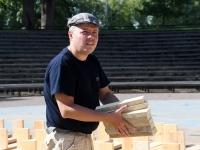 """010 """"Vaba Rahva Laulu"""" tarvis ehitatakse laululava. Foto: Urmas Saard"""