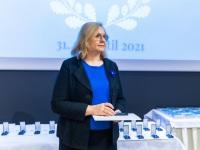 Vabaduse Tammepärja aumärkide üleandmaine Tallinna loomaaia keskkonnahariduskeskuse saalis. Foto: Arno Mikkor