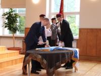 2 Vabariigi lipu õnnistamine Jakob Westholmi gümnaasiumis. Foto: Kaia Rikson