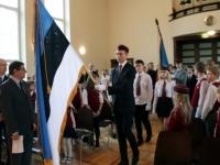 11 Vabariigi lipu õnnistamine Jakob Westholmi gümnaasiumis. Foto: Kaia Rikson