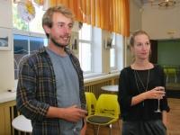 002 Vabatahtlikud Pärnu Nooruse majas; Julien Tort, Zoé Favre d'Anne. Foto: Urmas Saard. Foto: Urmas Saard