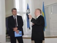 006 Mihkel Juhkam, Rakvere linnapea ja Trivimi Velliste Rakvere Kolmainu kirikus. Foto: Heidi Tooming