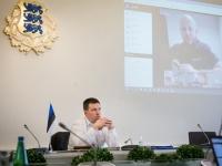 001 Videokonverents regioonide juhtidega. Foto: Stenbocki maja