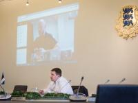 004 Videokonverents regioonide juhtidega. Foto: Stenbocki maja