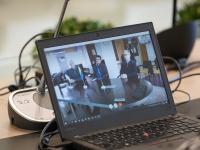 006 Videokonverents regioonide juhtidega. Foto: Stenbocki maja
