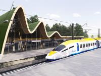 Virtuaalse Rail Balticu ideerongi pilt. Visualiseering RB Rail AS