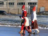 015 XVIII Ülemaaline Jõuluvanade konverents asus teele Sindist. Foto: Urmas Saard
