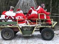 016 XVIII Ülemaalise Jõuluvanade konverentsi esimese adventpüha teekonnal. Foto: Urmas Saard