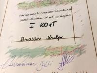 001 Pärnu maakonna luulekonkursi Koidulauliku valgel esimene koht. Foto: Urmas Saard