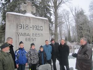 Mälestushetk Vabadussõjas langenute Viljandi ühiskalmistul. Foto: Viljandi maavalitsus