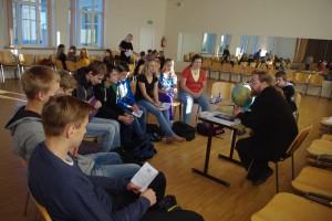 Hetk Räpina ühisgümnaasiumis toimunud Euroopa keeltepäevalt. Foto: erakogu
